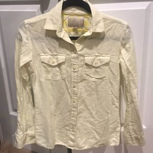 Banana Republic Yellow Soft Wash Shirt - XS